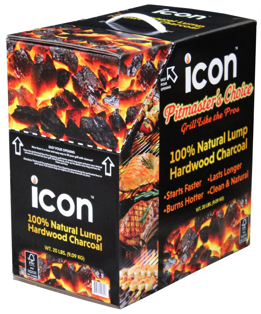 Icon bow lump charcoal